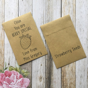 You Are Berry Special Mini Kraft Envelope with Strawberry Seeds-2-The Persnickety Co