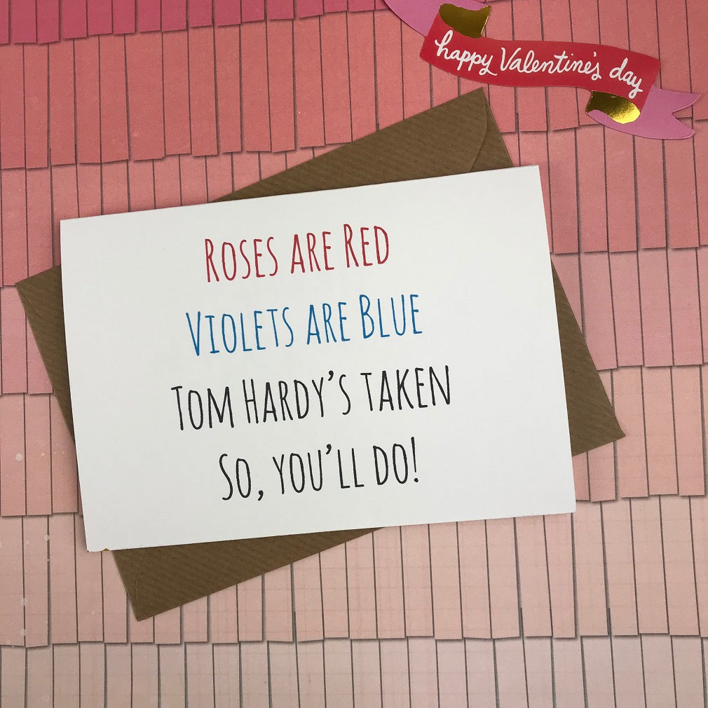 Rose's Are Red Violet's Are Blue, So You'll Do Card-The Persnickety Co