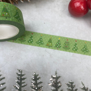 Green Christmas Tree Washi Tape-3-The Persnickety Co