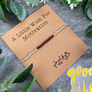 A Little Wish For Motivation - Beaded Bracelet-10-The Persnickety Co