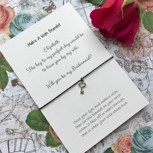 Bridesmaid Proposal - The Key To My Perfect Day... Wish Bracelet-5-The Persnickety Co