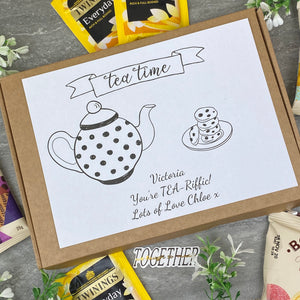 You're TEA-Riffic Personalised Tea and Biscuit Box-2-The Persnickety Co