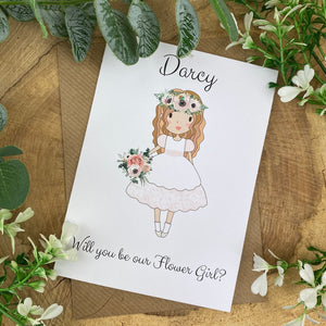 Wedding Card - Will You Be Our Flower Girl?-The Persnickety Co