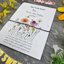 Load image into Gallery viewer, Mum If You Were A Flower Wish Bracelet On Plantable Seed Card-7-The Persnickety Co