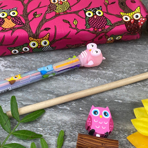 Owl Stationery Set - Pink-5-The Persnickety Co