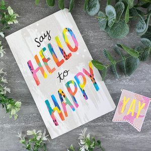 Say Hello to Happy Journal Notebook-The Persnickety Co