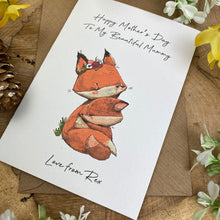 Load image into Gallery viewer, Fox Mother's Day Personalised Card-3-The Persnickety Co