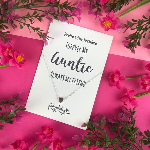Forever My Auntie Always My Friend Necklace-The Persnickety Co