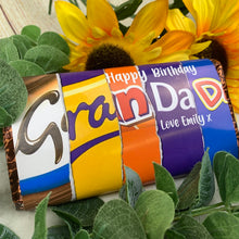 Load image into Gallery viewer, Personalised Grandad Birthday Chocolate Bar-The Persnickety Co