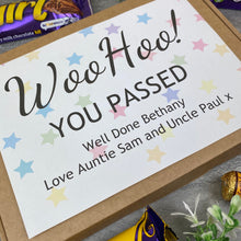 Load image into Gallery viewer, Woo Hoo! You Passed - Personalised Chocolate Box-2-The Persnickety Co