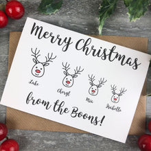 Load image into Gallery viewer, Personalised Reindeer Cards-4-The Persnickety Co