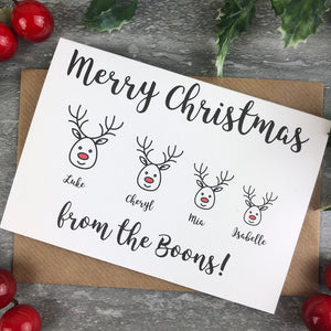 Personalised Reindeer Cards-4-The Persnickety Co