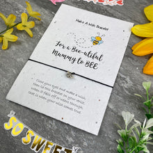Load image into Gallery viewer, Mummy To Bee Wish Bracelet On Plantable Seed Card-8-The Persnickety Co