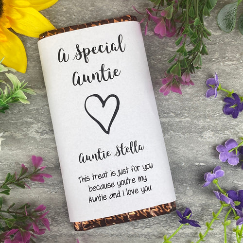 A Special Auntie Chocolate Bar-The Persnickety Co