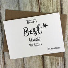 Load image into Gallery viewer, World's Best Grandad Personalised Card-4-The Persnickety Co