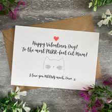Load image into Gallery viewer, Happy Valentine's Day To The Most PURR-fect Cat Mum/Cat Dad Card-7-The Persnickety Co