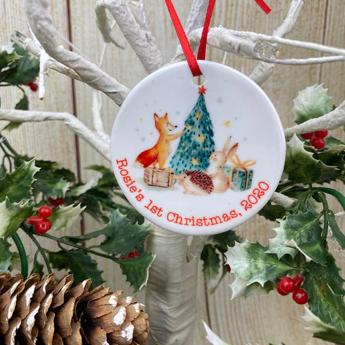 Woodland Friends 1st Christmas Hanging Decoration-The Persnickety Co