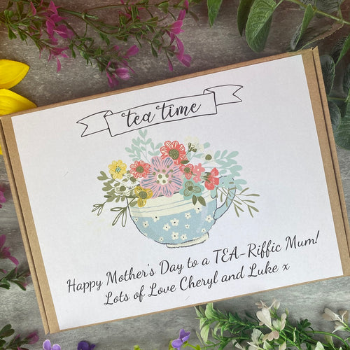 Personalised Mother's Day Tea and Biscuit Box-The Persnickety Co