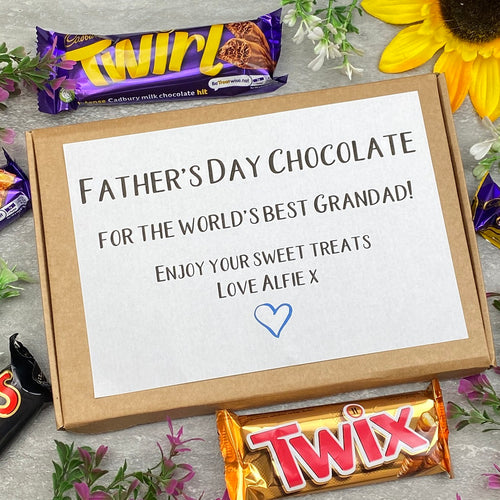 Father's Day Chocolate For The Worlds Best Grandad/Dad-The Persnickety Co