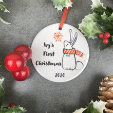 Load image into Gallery viewer, Personalised First Christmas Hanging Decoration-The Persnickety Co
