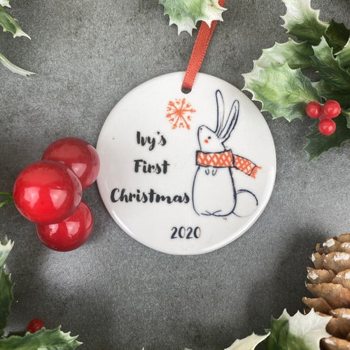 Personalised First Christmas Hanging Decoration-The Persnickety Co