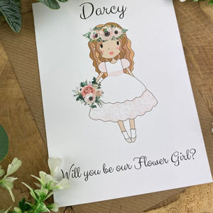 Wedding Card - Will You Be Our Flower Girl?-10-The Persnickety Co