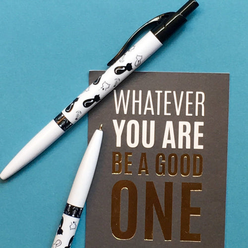 Cute Cat Ballpoint Pen - White & Black-The Persnickety Co