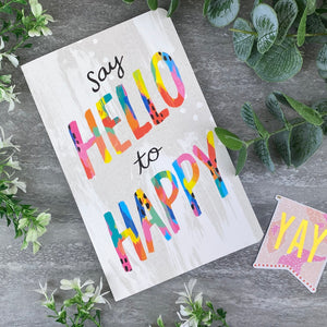 Say Hello to Happy Journal Notebook-2-The Persnickety Co