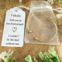 Load image into Gallery viewer, Will You Be My Bridesmaid Knot Bangle-2-The Persnickety Co