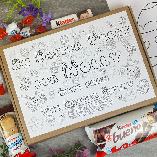 Personalised Easter Treat Colouring in Kinder Box-The Persnickety Co