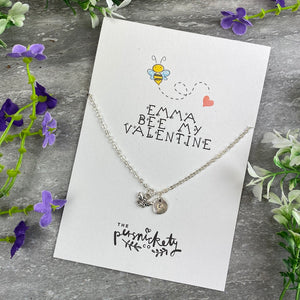 Bee My Valentine Necklace-6-The Persnickety Co