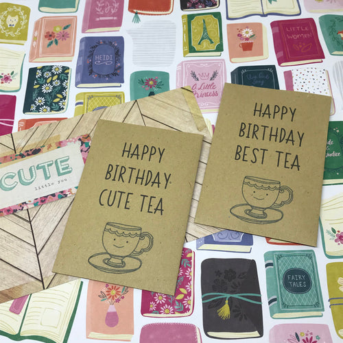 Happy Birthday Best Tea/Cute Tea Mini Kraft Envelope with Tea Bag-The Persnickety Co