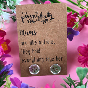 Mums Are Like Buttons Earrings-4-The Persnickety Co