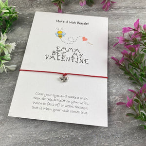 Personalised Bee My Valentine Wish Bracelet-10-The Persnickety Co