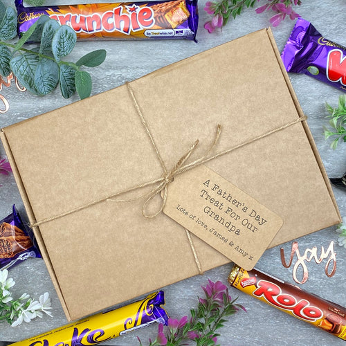 Grandad Fathers Day Treat - Personalised Chocolate Gift Box-The Persnickety Co