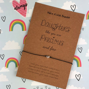 Daughters Like You Are Precious and Few - Wish Bracelet-2-The Persnickety Co