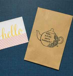 Hello ..is it TEA your looking for? Mini Kraft Envelope with Tea Bag-The Persnickety Co