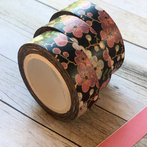 Pink & Purple Flower Washi Tape-2-The Persnickety Co