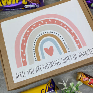You Are Nothing Short Of Amazing Personalised Chocolate Box-7-The Persnickety Co