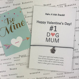 Happy Valentine's Day No. 1 Dog Mum Wish Bracelet-3-The Persnickety Co