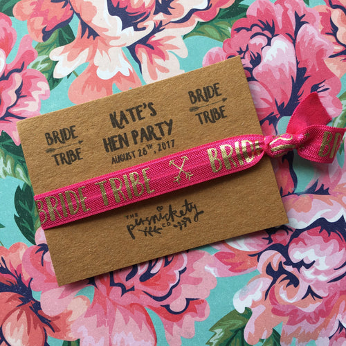 Personalised Hen Party Wristband Bride Tribe / Team Bride-The Persnickety Co