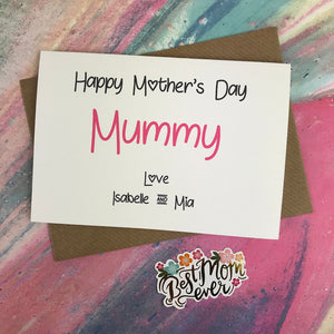 Happy Mother's Day Mummy/Mum/Mom/Mam Personalised Card-5-The Persnickety Co