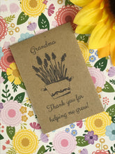 Load image into Gallery viewer, Grandma Thank You For Helping Me Grow Mini Kraft Envelope with Wildflower Seeds-8-The Persnickety Co