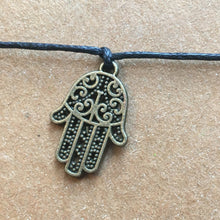 Load image into Gallery viewer, Hamsa Hand Wish Bracelet-3-The Persnickety Co