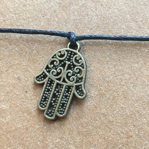 Hamsa Hand Wish Bracelet-3-The Persnickety Co