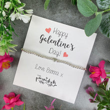 Load image into Gallery viewer, Personalised Galentine's Day Beaded Bracelet-The Persnickety Co