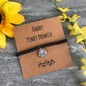 Daddy Pinky Promise Black Onyx Bracelet-8-The Persnickety Co