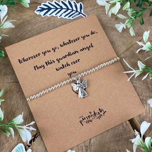 Wherever You Go Guardian Angel Beaded Bracelet-The Persnickety Co