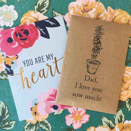 Dad, I love you sow much! Mini Kraft Envelope with Tomato Seeds-The Persnickety Co