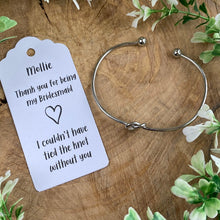 Load image into Gallery viewer, Knot Bangle - Bridesmaid Thank You-6-The Persnickety Co